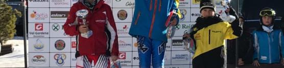 Sieg für Noah Staudacher  beim VSS Riesentorlauf in Gröden 22.01.2017