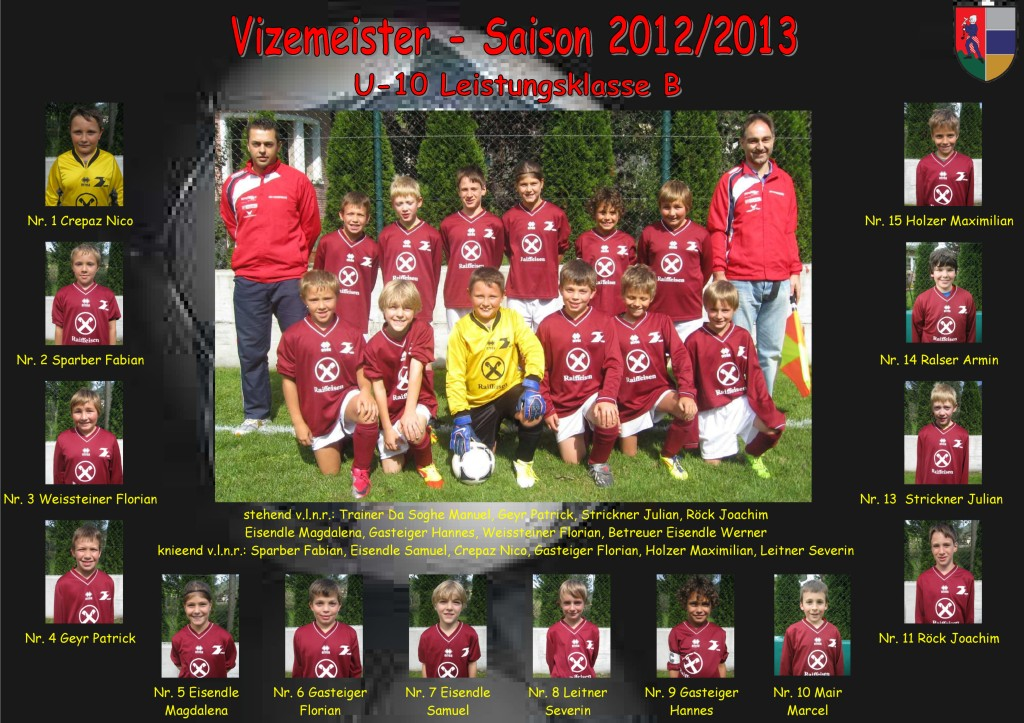 ASVG - U-10 Vizemeister- Saison 2012-2013