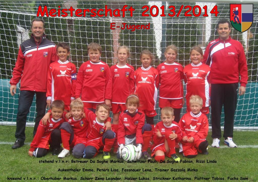 ASVG - Sponsorbild Jugendmannschaft E-Jugend - Saison 2013-2014