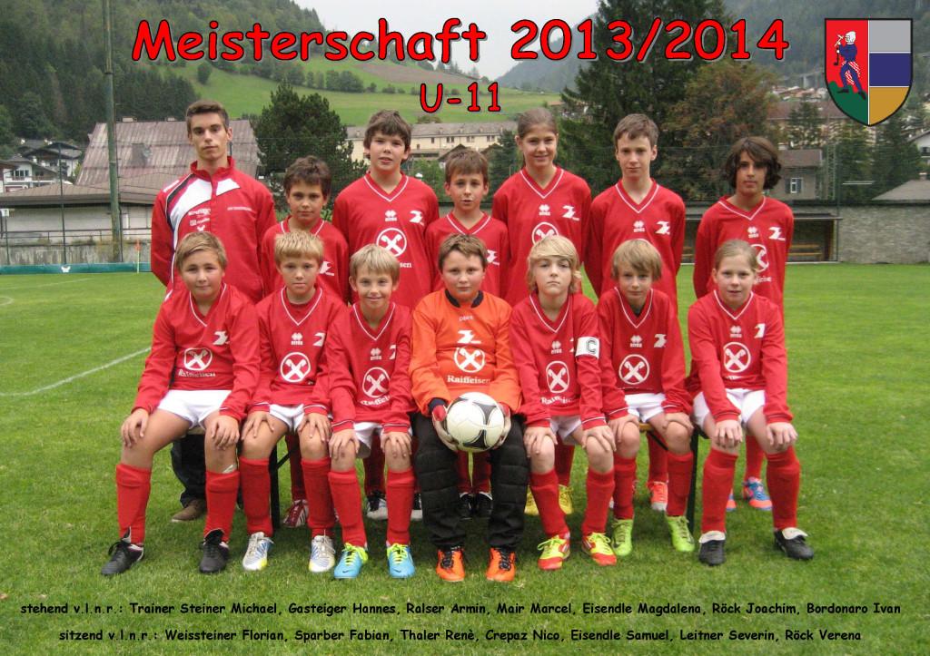ASVG - Sponsorbild Jugendmannschaft U-11-Jugend - Saison 2013-2014