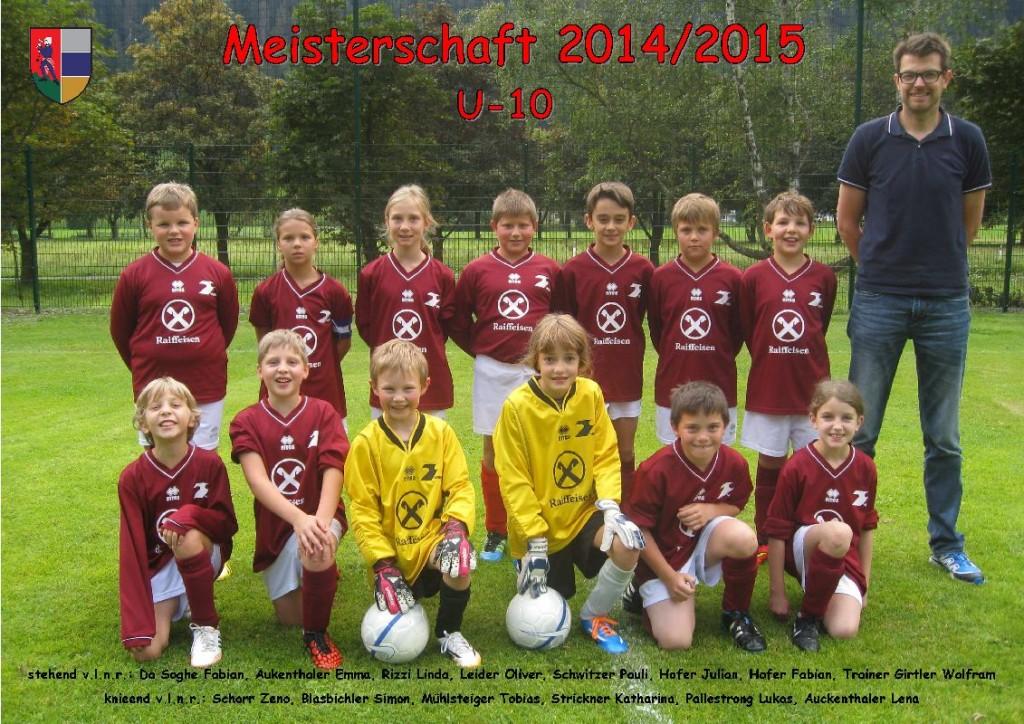 ASVG - Sponsorbild U-10 - Saison 2014-2015_r